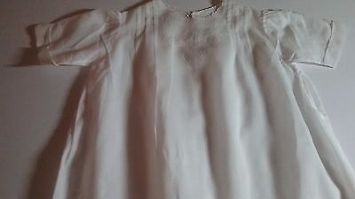 Vintage baby girl clothes, Dress with Beautiful White Detail , Newborn to 3 Mo.