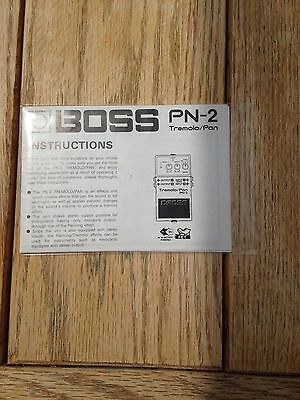 Boss PN2 effects pedal owners manual instruction booklet