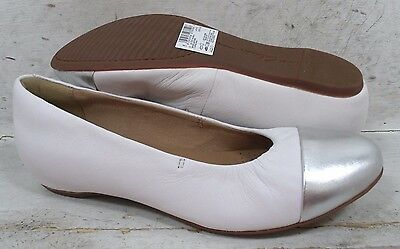 NEW Clarks Womens Alitay Susan White Leather 15023 Flats Shoes size mm 6 M*