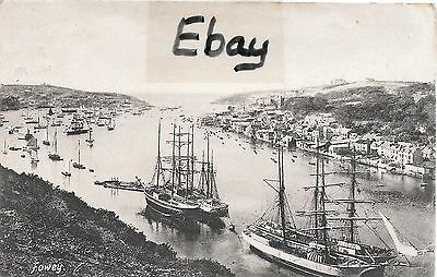An early (1906) post card of the harbour at Fowey, Cornwall