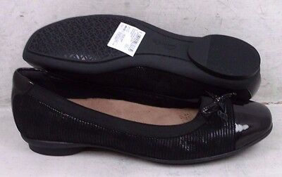 NEW Clarks Artisan Womens Candra Glow Black Suede Flats Shoes 02695 size mm 6 M*