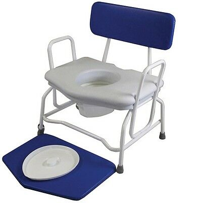 Fixed Height Extra Wide Commode Chair with Fixed Arms