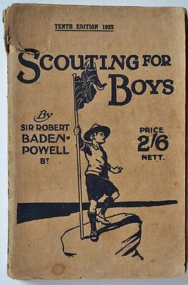 Scouting For Boys Book Tenth Edition 1922 Baden-Powell