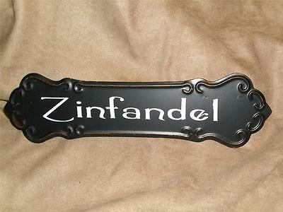 ZINFANDEL WINE SIGN Metal Vintage Look  Bar Pub Kitchen Restaurant Wall Decor
