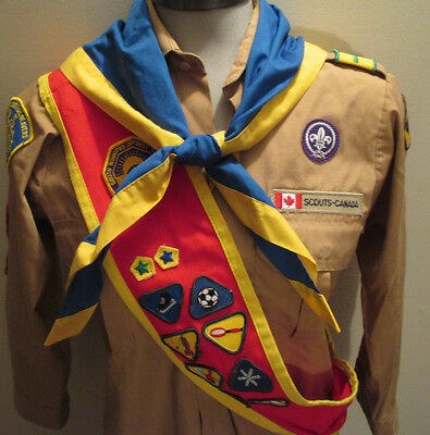 Scouts Canada - Shirt & Sash & Bandana ~ Assorted Merit Badges