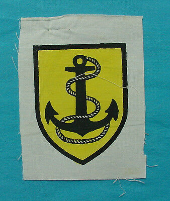 South Vietnam Unknown Printed Patch Fouled Anchor On Yellow Navy ?