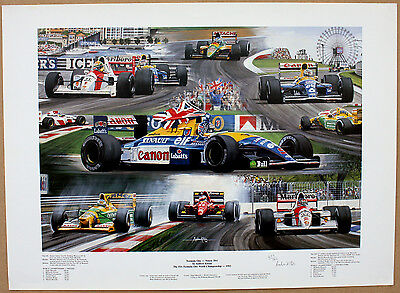 'Formula One-Ninety Two' Nigel Mansell Limited Edition Print by Andrew Kitson