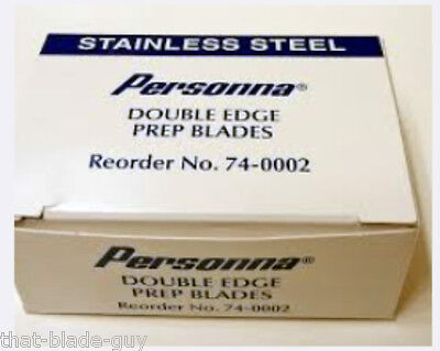 100 Personna Med Prep Stainless Steel Double Edge Razor Blades Made In U.s.a