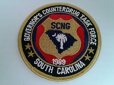 South Carolina National Guard Governor's Counterdrug Taks Force 1989 Patch