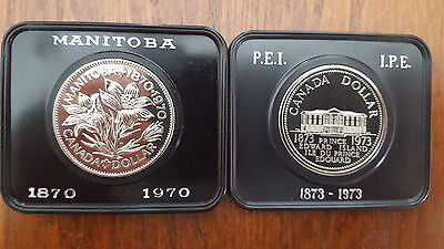 Collection of 2 Proof Like  Canada commemorative dollars (1970 & 1973)