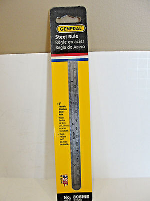 General Tools 305ME Flexible Precision Rule 6 in L X 15/32 in W, Stainless Steel