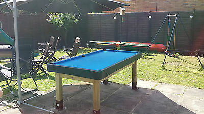 'Table Top'  Pool table 6x3ft with cue and balls