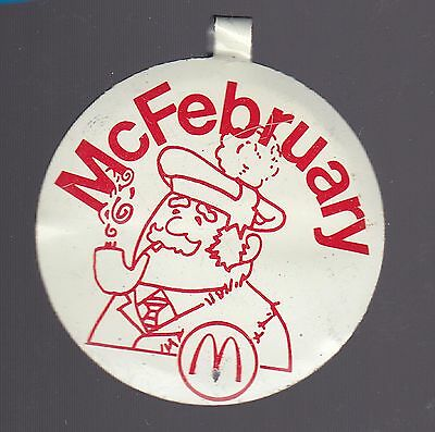 Vintage McDonald's McFebruary Pin