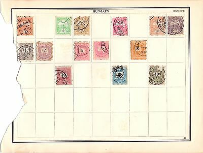Mixture Of Stamps From An Album Dated 1919    Lot No.1
