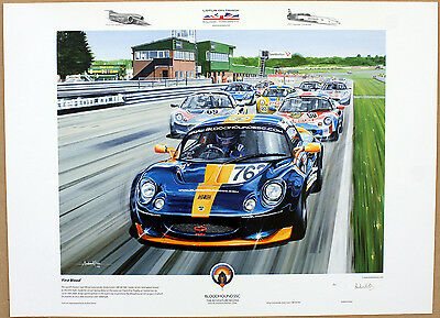 'First Blood' Lotus Elise Print by Andrew Kitson
