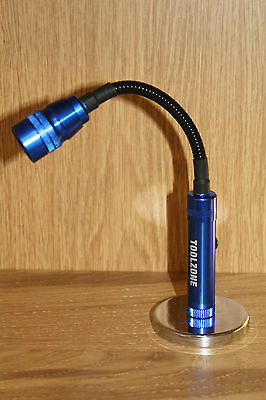 Garage work Tool - LED Super Bright Light Flexible Torch w Strong Magnetic Base