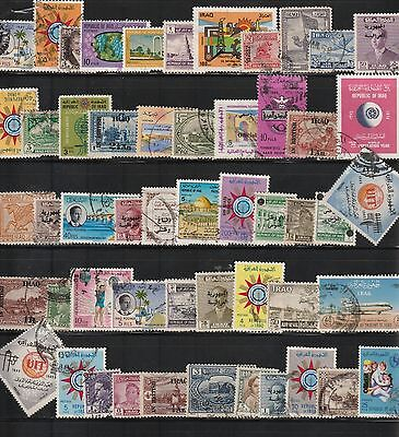 Stamps of Iraq - 50 Different Used.