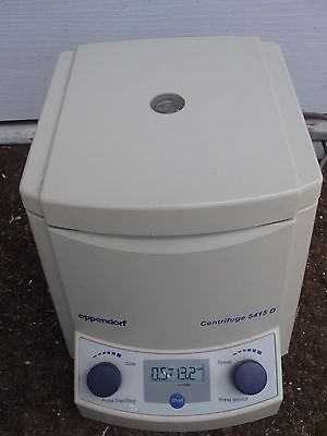 Eppendorf 5415D Centrifuge w Rotor.&lid, 6 month warranty