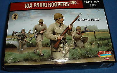 STRELETS Set M 120 - JAPANESE PARATROOPERS - WW2 1/72 SCALE
