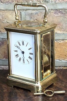 ANTIQUE FRENCH REPEATING CARRIAGE CLOCK c 1880
