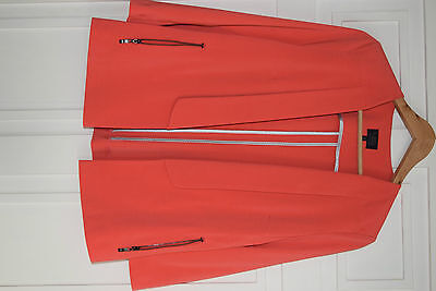 Marks & Spencer summer jacket - coral - size 10 Petite