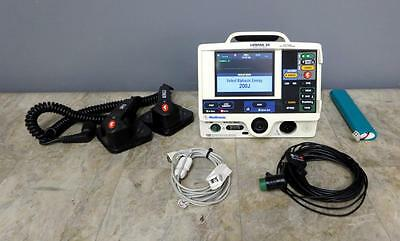 Physio-Control Lifepak 20 Biphasic 3 Lead ECG SpO2 Pacing Analyze + Hard Paddles