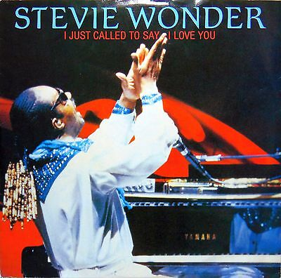 """Stevie Wonder """"i Just Called To Say I Love You"""" 1984 12"""" Single. Vg+ Cond."""