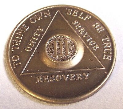 AA-Alcoholic Anonymous Sobriety Token Three Years  Unity Service Recovery