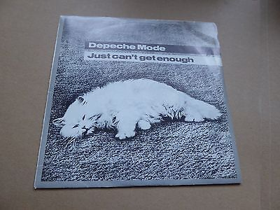 Depeche mode, Just can't get enough, 1981, prime cut,EX, single, record, 7 inch