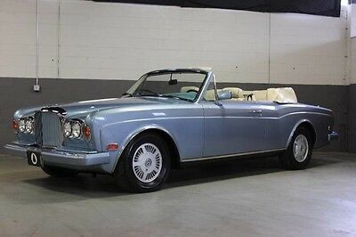 1991 Bentley Other  1991 BENTLEY CONTINENTAL CONVERTIBLE (ROLLS ROYCE CORNICHE), ONE OWNER, SERVICED