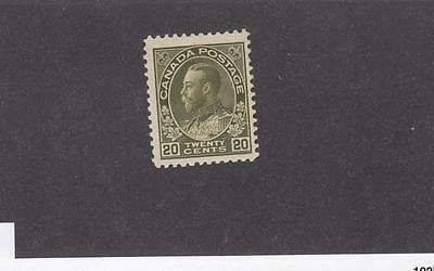 CANADA 119 MNH KGV 20cts OLIVE GREEN CAT VALUE $200