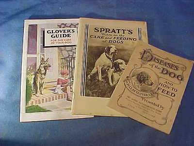 3-1930s VETERINARY Medicine DOG CARE + Products ADVERTING BOOKLETS