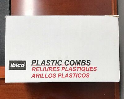 """2"""" Black Plastic Binding Combs - Ibico- Set Of 25 - Holds 450 Pages"""