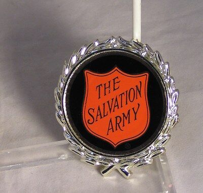 Salvation Army -   RED SHIELD LOGO IN SILVER WREATH