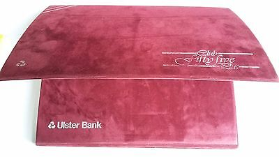 Ulster Bank Folder File Accordion Type Fifty Five Plus Vintage Records 1980's