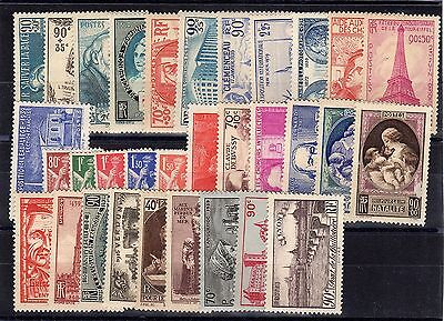 FRANCE: ANNEE COMPLETE 1939 DE 32 TIMBRES NEUF* YTN°419/450 Cote: 157,00€