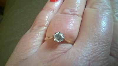 Solitaire .5 Carat Gold Diamond Engagement Ring - Size R