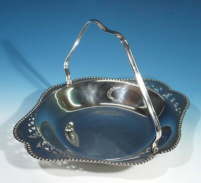 Vintage Silver Plated Fruit Basket with Swing Handle.