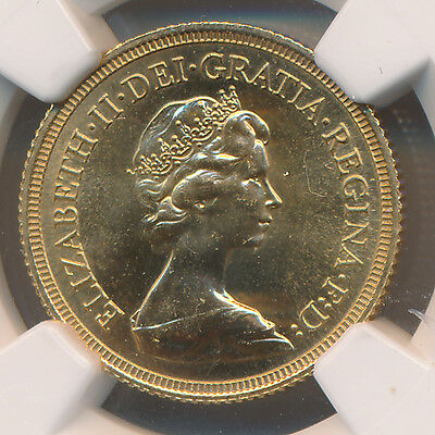 Great Britain GOLD Sovereign 1980 - NGC MS 66