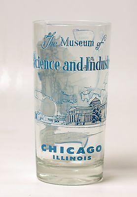 Chicago Museum of Science And Industry Souvenir Glass Tumbler Vintage