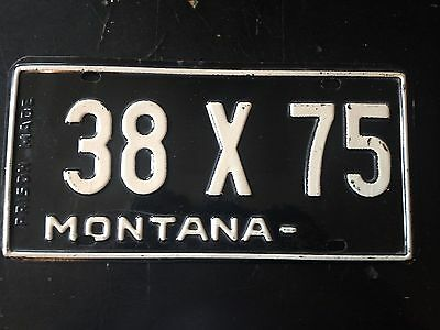1950 Montana Exempt Prison Made License Plate