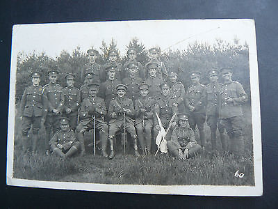 Real Photo RP Postcard - Devonshire Regiment Group of Soldiers - Bawdsey