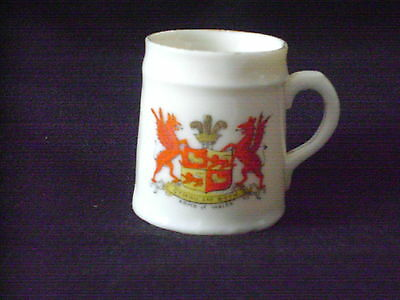 China Tankard With Arms Of Wales Crest And Is By Gemma China