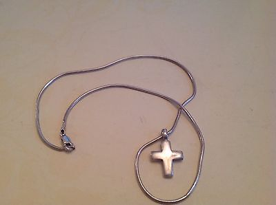 Solid Sterling Silver 925, Cross Crucifix and chain, religious, Beautiful