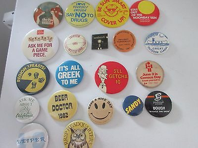 Vintage pin-backs  100 from the 70 & 80s mostly