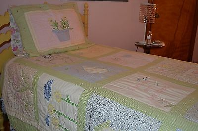 Pottery Barn Kids MARY MARY QUITE CONTRARY TWIN Quilt & SHAM - GUC