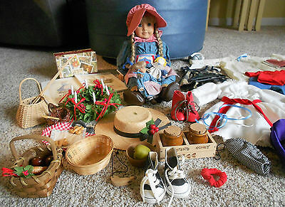 "Retired Pleasant Company American Girl 18"" Kirsten Doll 1994 w/ Rare HTF Clothes"
