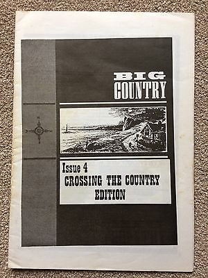 Big Country Fanzine, Crossing The Country Issue 4 In VGC