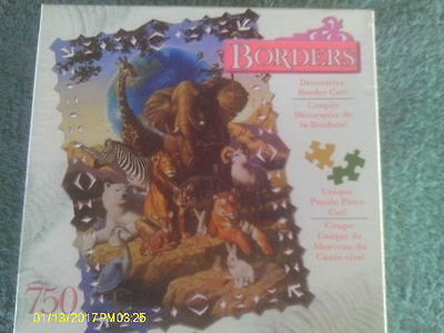 "750 Piece Puzzle ""African Animals"" with Decorative Border Cut Pieces"