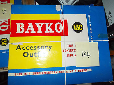 BAYKO SET 13C Meccano contents almost complete with a few extras. Lot 184